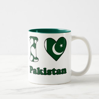 I love Pakistan Two-Tone Coffee Mug