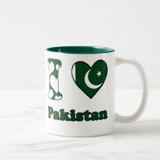 I love Pakistan Two-Tone Mug