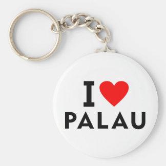 I love Palau country like heart travel tourism Key Ring