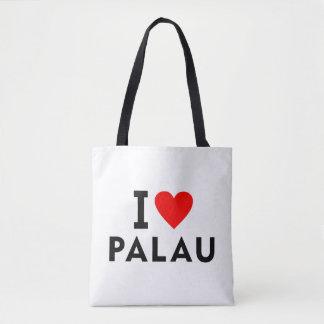 I love Palau country like heart travel tourism Tote Bag