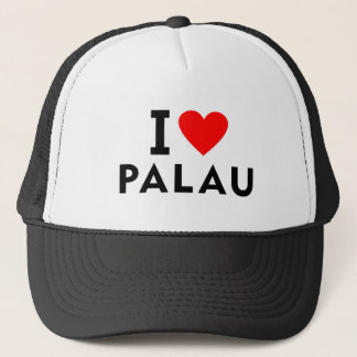 I love Palau country like heart travel tourism Trucker Hat