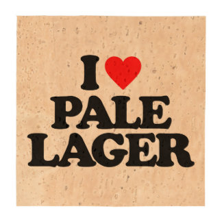 I LOVE PALE LAGER COASTERS