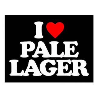 I LOVE PALE LAGER POSTCARD
