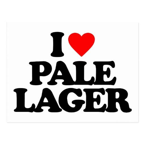 I LOVE PALE LAGER POSTCARDS