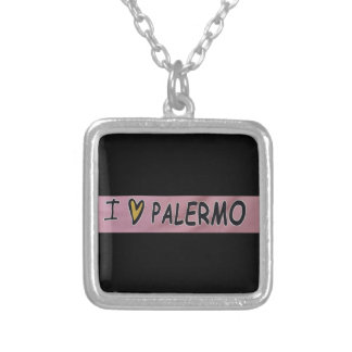 I love Palermo Design Silver Plated Necklace