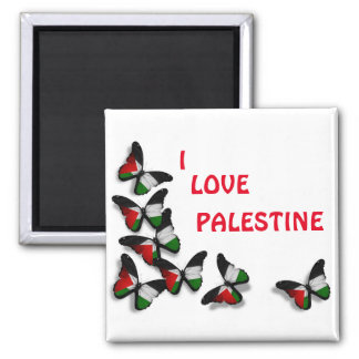 I Love Palestine Flag Fridge Magnet Souvenir