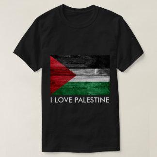 I Love Palestine Flag T-Shirt Men Shirt