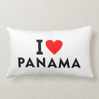 I love Panama country like heart travel tourism Lumbar Cushion