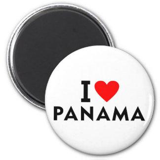 I love Panama country like heart travel tourism Magnet