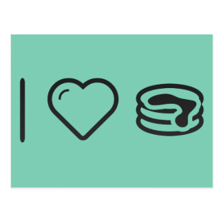 I Love Pancakes Postcard