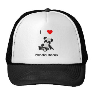 I Love Panda Bears Cap