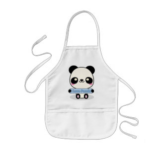 I Love Panda Kids Apron