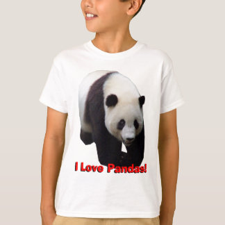 I Love Pandas! Giant Panda Kids Shirt