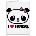 I Love Pandas Greeting Card