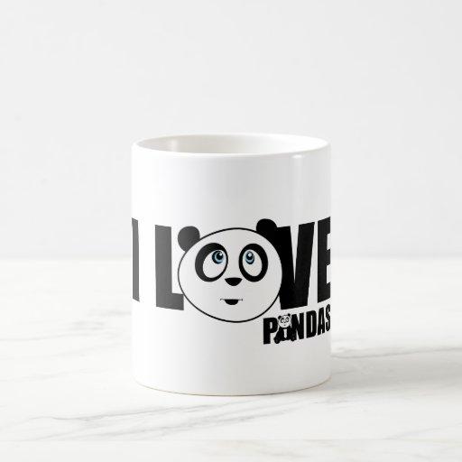 I Love Pandas Mugs