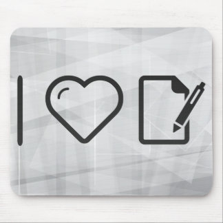 I Love Paper Pads Mouse Pad