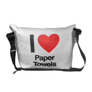 i love paper towels messenger bag