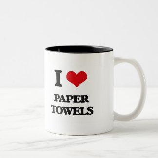 I Love Paper Towels Mugs