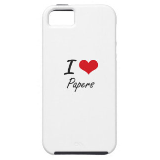 I Love Papers iPhone 5 Case