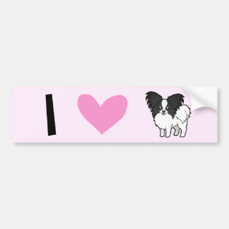 I Love Papillons Bumper Sticker