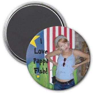 I Love Pappa Fish! 7.5 Cm Round Magnet