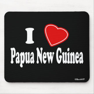 I Love Papua New Guinea Mouse Pad