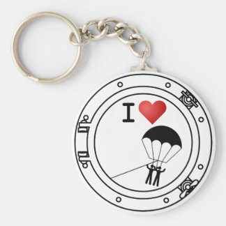 I Love Parasailing Key Ring