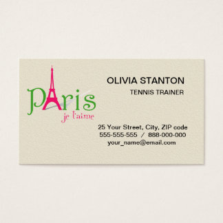 I love Paris Business Card