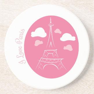 I Love Paris Beverage Coaster