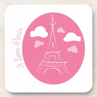 I Love Paris Drink Coasters