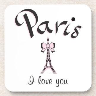 I love Paris Drink Coaster