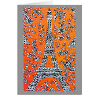 I LOVE PARIS Grey  Card