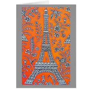 I LOVE PARIS Grey  Card
