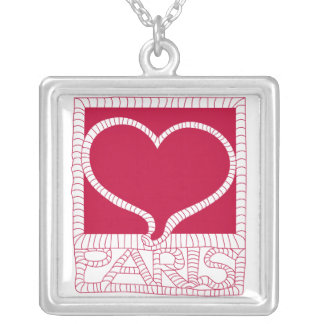 I Love Paris Heart Silver Plated Necklace