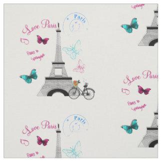 I Love Paris In Springtime Fabric