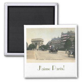 I Love Paris! Square Magnet