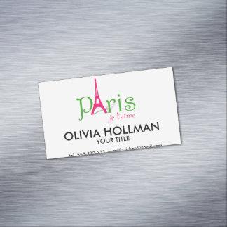 I love Paris Magnetic Business Card