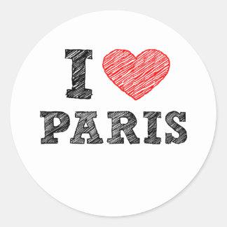 I Love Paris Sketch Sticker