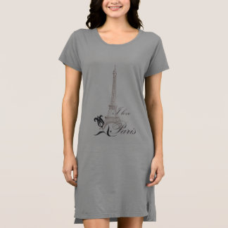 I love Paris T Shirt Dress