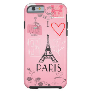 I Love Paris Tough iPhone 6 Case