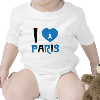 I Love Paris Bodysuits
