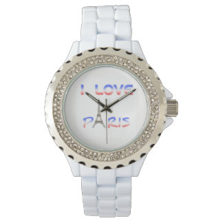 i love Paris woman watch