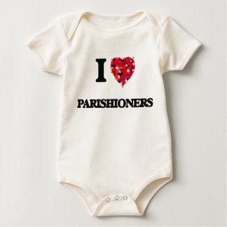 I Love Parishioners Baby Bodysuit
