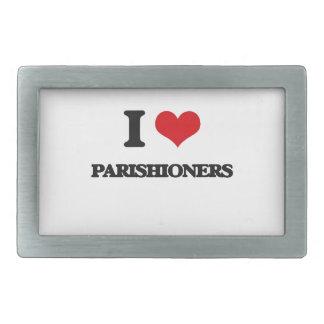 I Love Parishioners Belt Buckles