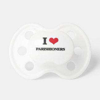 I Love Parishioners BooginHead Pacifier