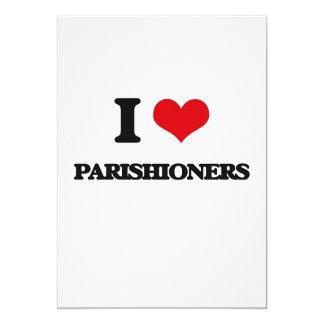 "I Love Parishioners 5"" X 7"" Invitation Card"