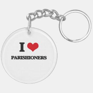 I Love Parishioners Acrylic Keychains