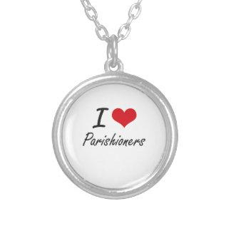I Love Parishioners Round Pendant Necklace
