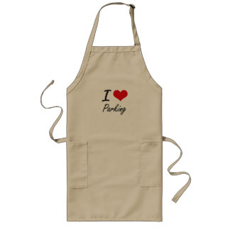I Love Parking Long Apron