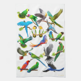 I Love Parrots Kitchen Towel